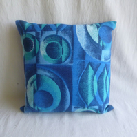 1960s vintage barkcloth cushion cover