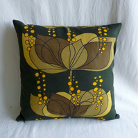 Vintage 1960s Boras Scandinavian  fabric cushion cover