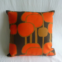 1970s vintage Scandinavian fabric cushion cover