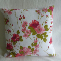 Dainty floral vintage fabric cushion cover
