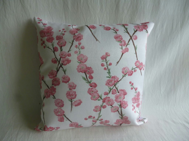1950s blossom patterned satin cushion cover