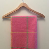 Pure wool candyfloss cwtch blanket in a bag