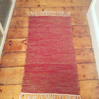 Variagated pink cotton rug