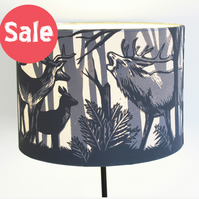 handprinted stag lampshade