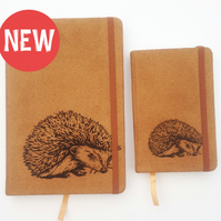 A5 handprinted Suede effect Notebook