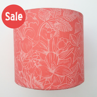 20cm floral lampshade coral