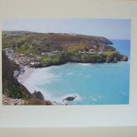Greetings card of Trevaunance Cove, St. Agnes.