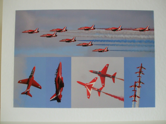 Montage of photos of the Red Arrows