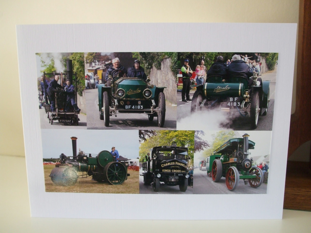 Montage of photos. of Steam Vehicles.