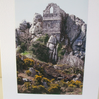 Photographic card of Roche Rock; a monument nr.Roche.