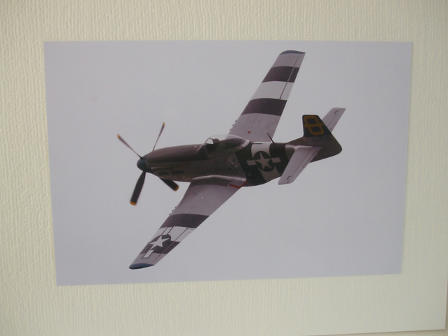Photo of an American Mustang aeroplane.