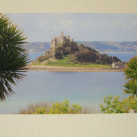 Photographic greetings card of St.Michael's  Mount, Cornwall.