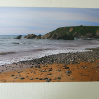Photographic greetings card of Church Cove, Nr. Mullion, Cornwall. ( sandy side)