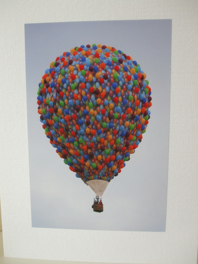 Photographic greetings card of a balloons Hot Air Balloon.