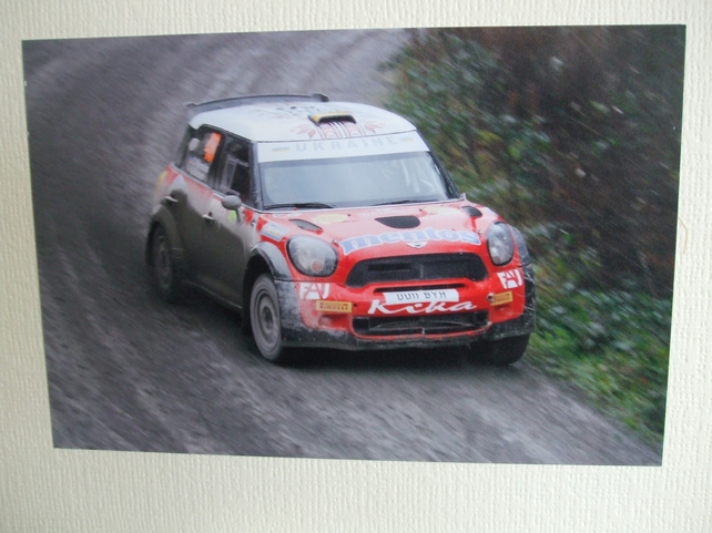 Photographic greetings card of a John Cooper Works S2000 Mini.