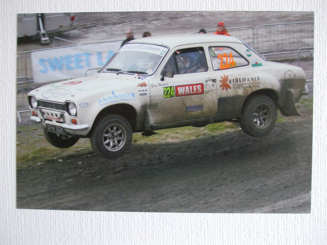 Photographic greetings card of a Ford Escort RS1600 Mk. 1.