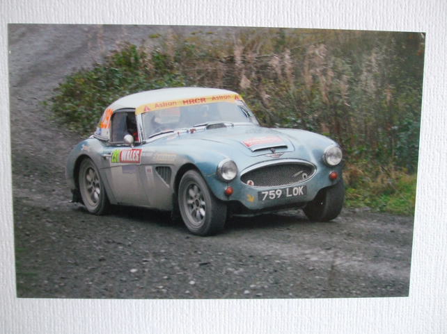 Photographic greetings card of an Austin - Healey 3000 Mk.3.