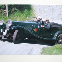 Photographic greetings card of a 1934 Lagonda M45 .
