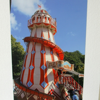 Photographic greetings card of a Pepper Pot Helter Skelter