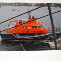 Photographic greetings card of the Falmouth Lifeboat.