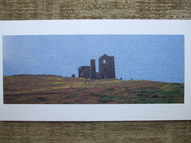Photographic greetings card of Wheal Coates Tin Mine.
