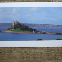 Photographic greetings card of St.Michael's Mount, in Mount's Bay.