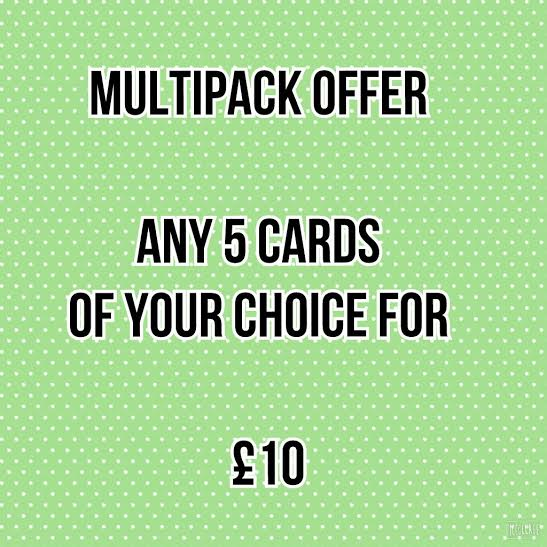 Photographic greetings cards, 5 pack offer.