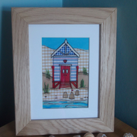 Beach hut and solid oak Frame