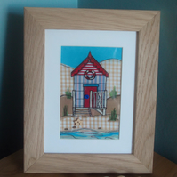 beach hut with solid oak frame