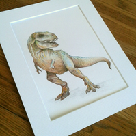 Original T Rex dinosaur artwork