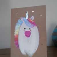 Rainbow unicorn card