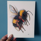 Fuzzy Buzzy - original artwork of a flying bumble bee