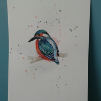 King Fisher - original hand painted
