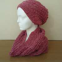 Slouch Beanie and Snood set