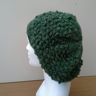Green flecked slouch beanie