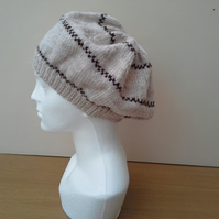 Slouch beret style hat