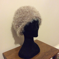 Faux fur knitted hat