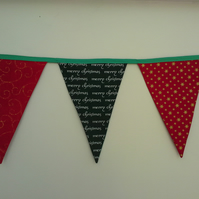 Double sided Christmas Bunting