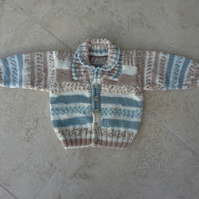 Baby Boy Hand Knitted Jacket