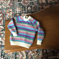 Toddlers hand knitted jumper