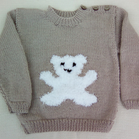 Toddlers Jumper with Teddy Motif