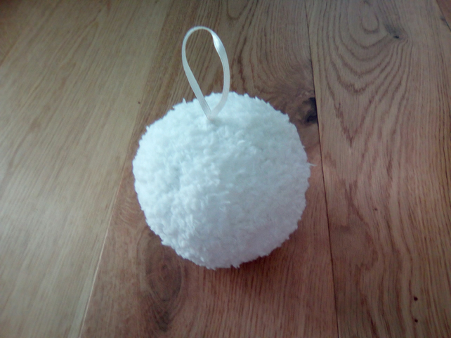 Knitted Christmas bauble