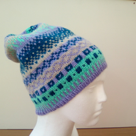 Slouchy pull on hat