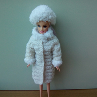 Coat and Hat for 12in Barbie type doll
