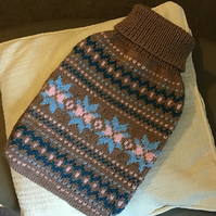 Cosy fair isle jumper style cover