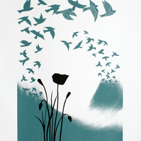 From This Rich Earth, limited edition screen print, hand printed art