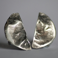 Waxing and Waning Silver Earrings