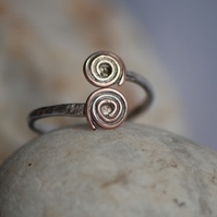 Sterling Silver and Copper Spiral ring
