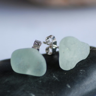 Beautiful Sea Glass Studs