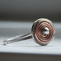 Silver Fiddler's Labyrinth Ring
